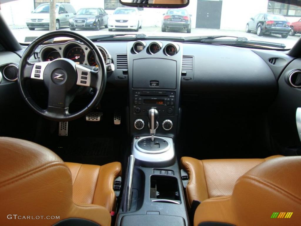 Burnt orange leather interior 2006 nissan 350z touring for Interieur 350z