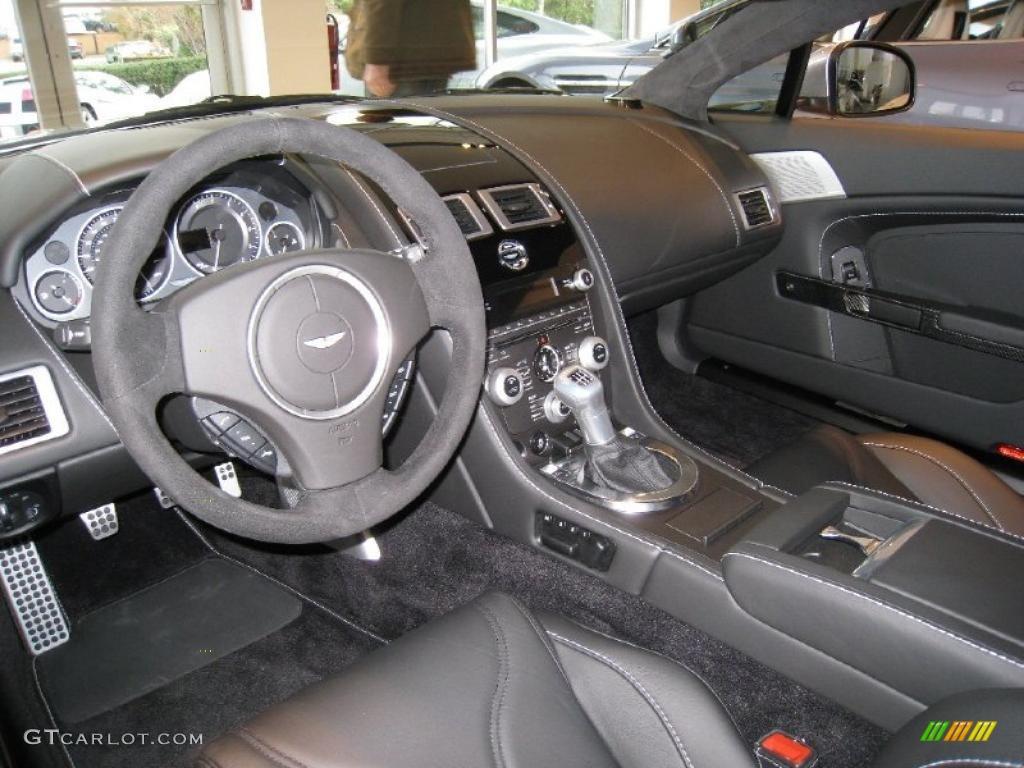 Obsidian Black Interior 2011 Aston Martin V12 Vantage