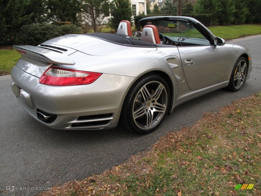 gt silver metallic 2008 porsche 911 turbo cabriolet. Black Bedroom Furniture Sets. Home Design Ideas