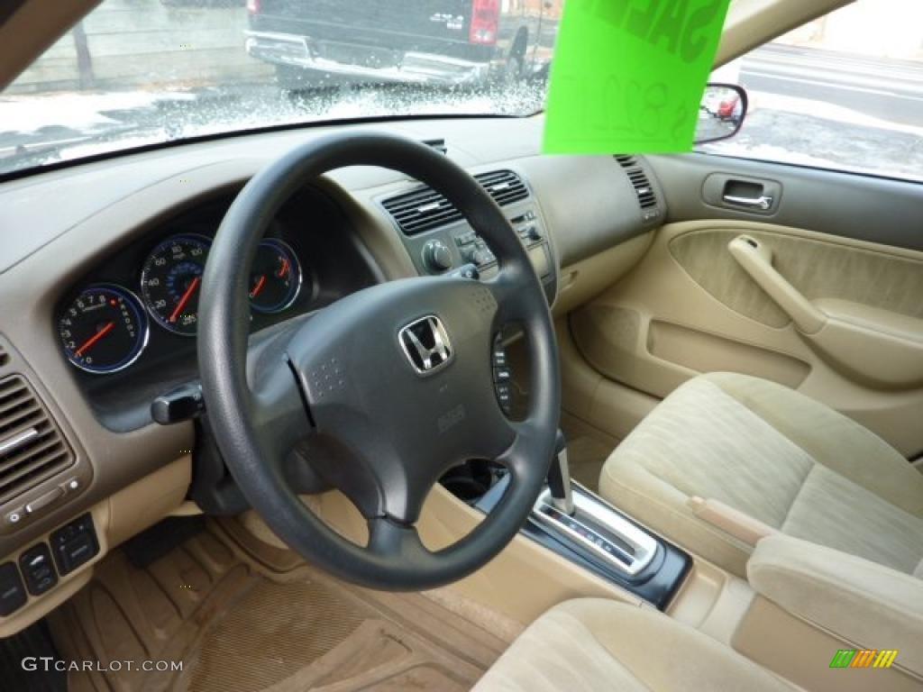 Ivory Beige Interior 2004 Honda Civic Ex Sedan Photo 41082627