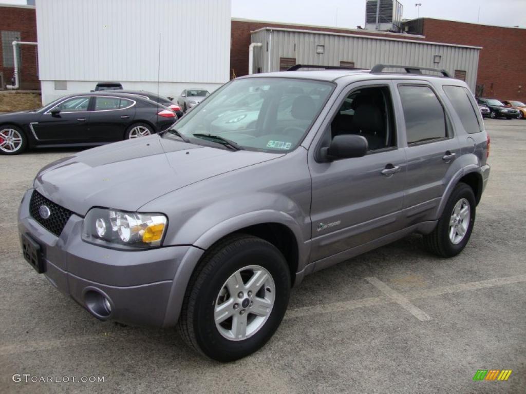 Tungsten Grey Metallic 2007 Ford Escape Hybrid 4wd