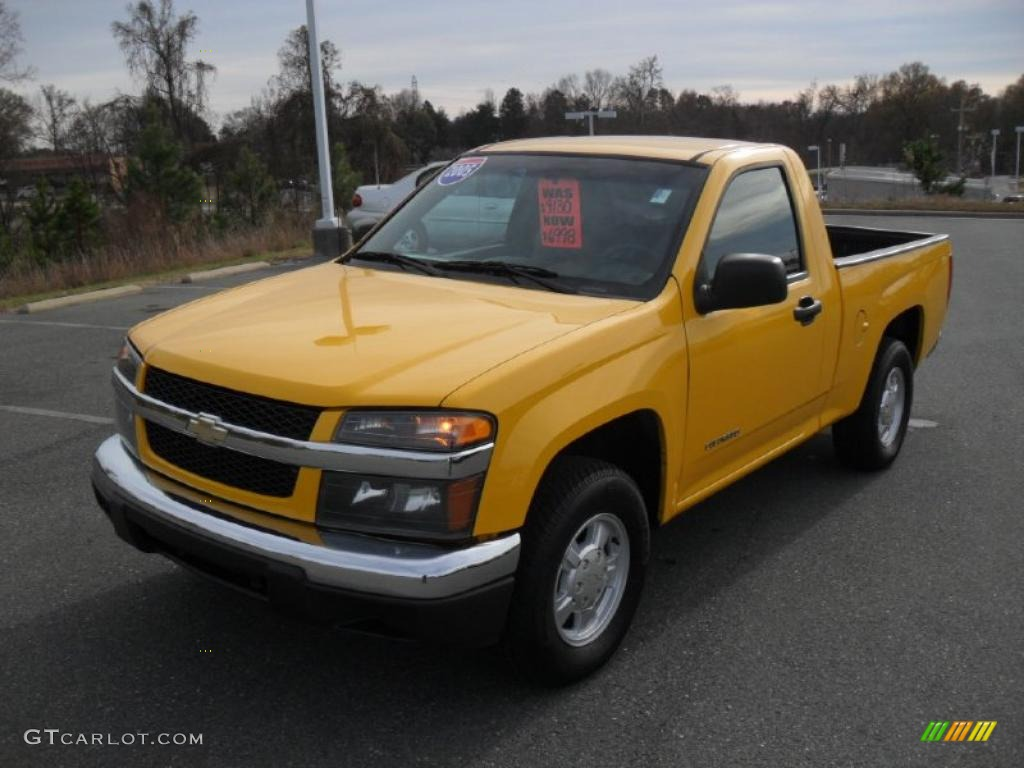 2005 yellow chevrolet colorado ls regular cab 41068623 car color galleries. Black Bedroom Furniture Sets. Home Design Ideas