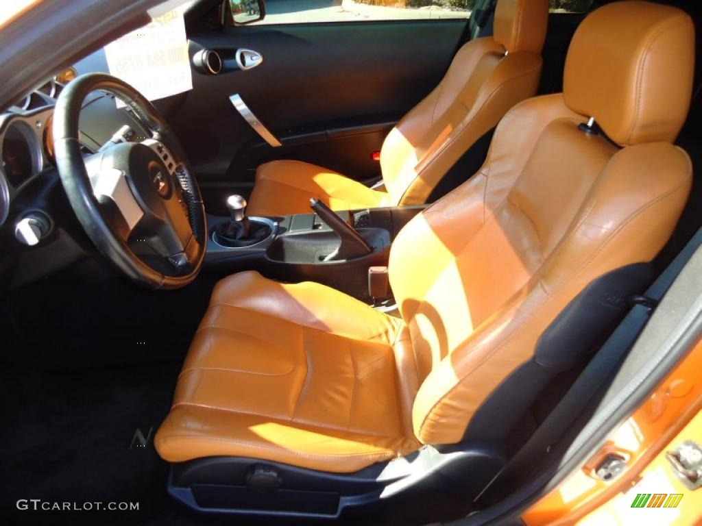 burnt orange carbon black interior 2003 nissan 350z