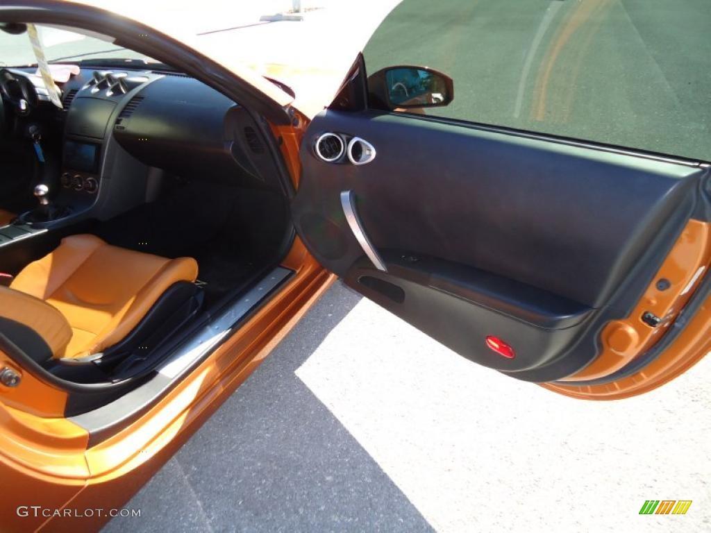 2003 nissan 350z touring coupe burnt orange carbon black door panel rh gtcarlot com 350z door handle 350z door switch