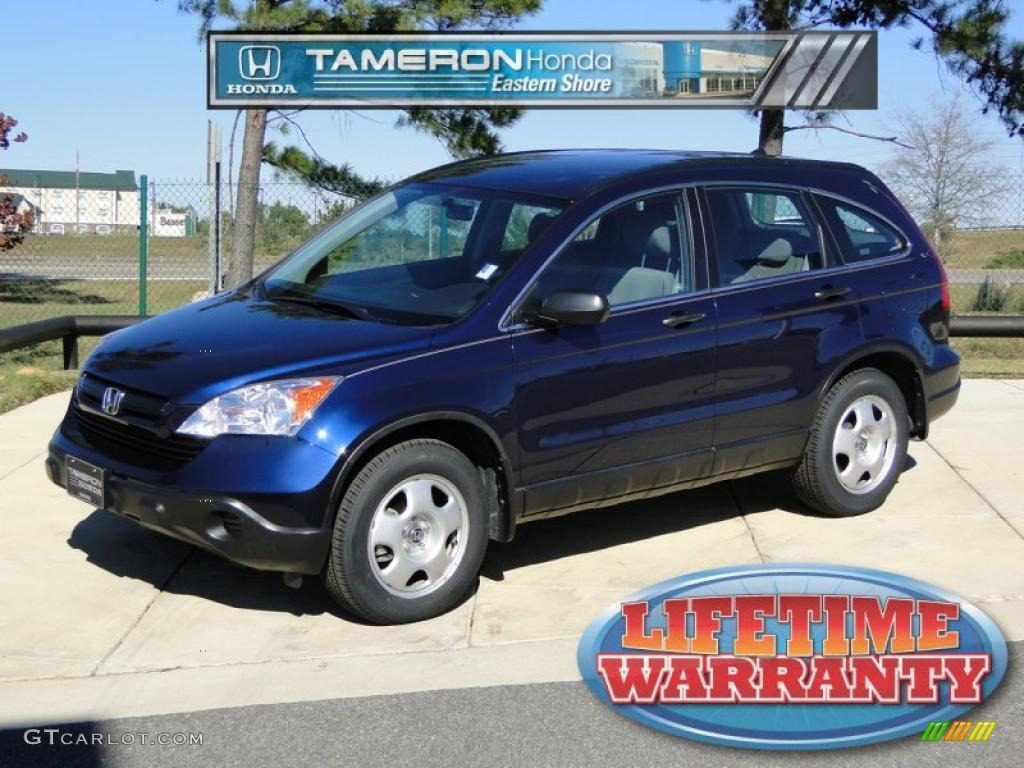 2008 CR-V LX - Royal Blue Pearl / Gray photo #1