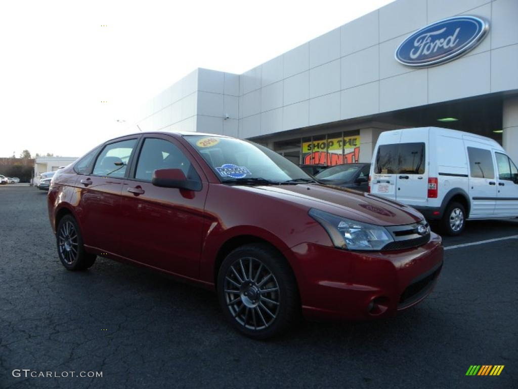 2010 sangria red metallic ford focus ses sedan 41068226. Black Bedroom Furniture Sets. Home Design Ideas