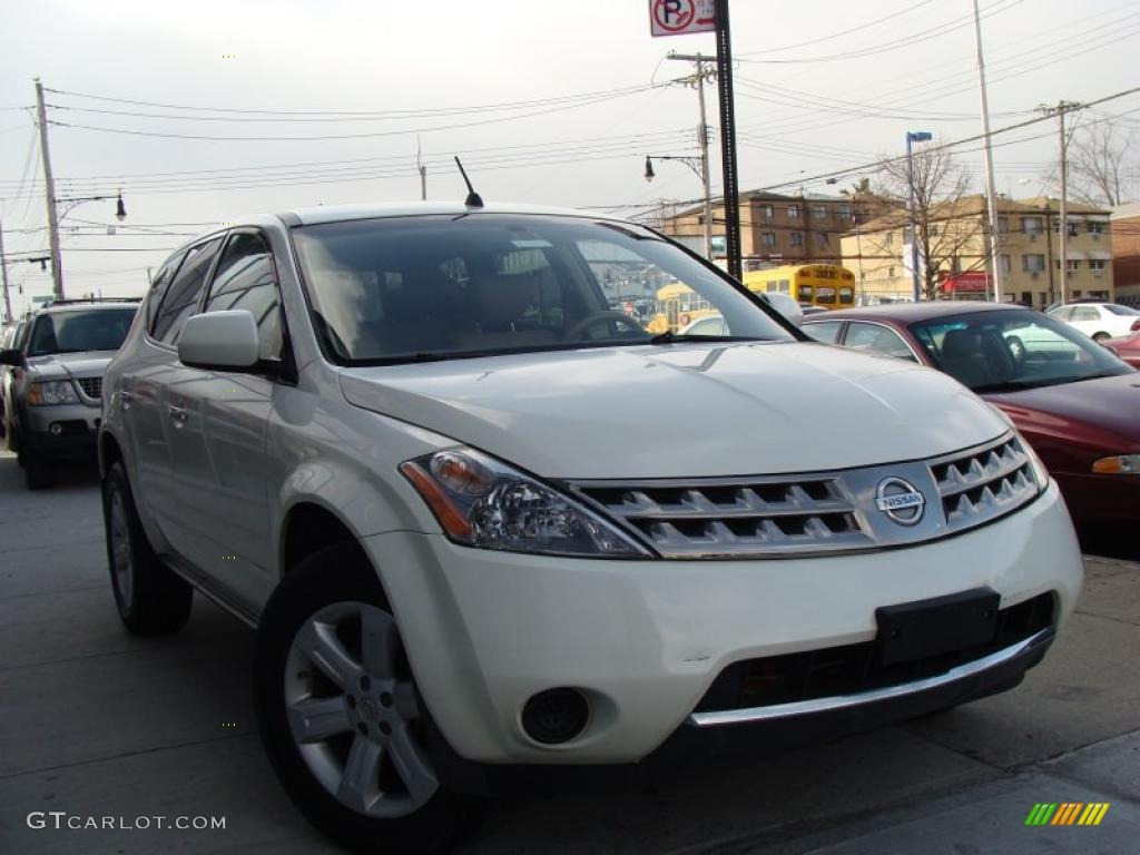 2007 Murano S AWD - Glacier Pearl White / Cafe Latte photo #1