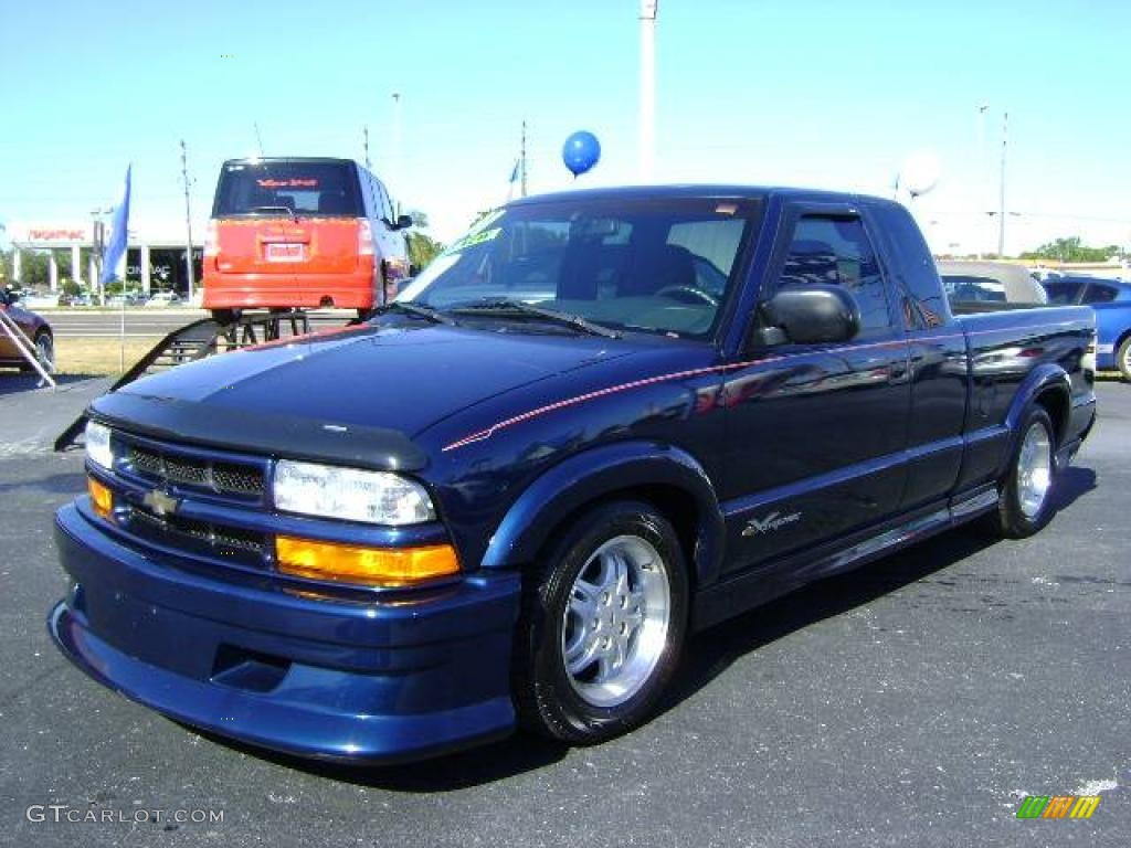 2001 Indigo Blue Metallic Chevrolet S10 Extended Cab Xtreme