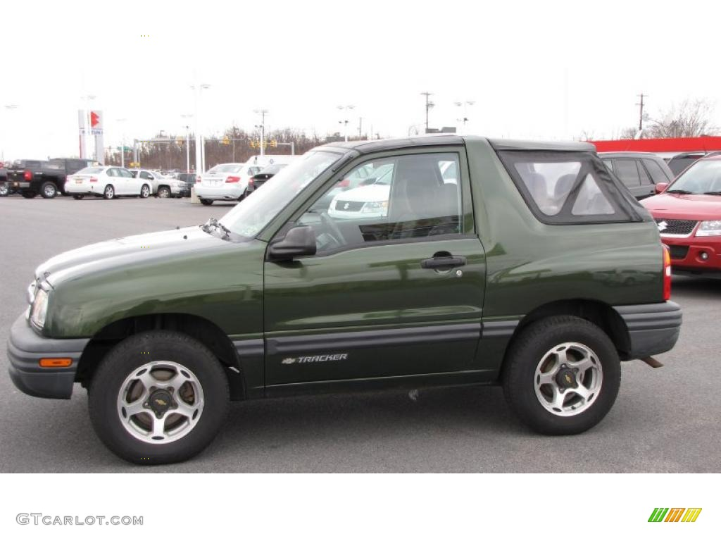 Medium Green Metallic 2001 Chevrolet Tracker Hardtop 4WD ...