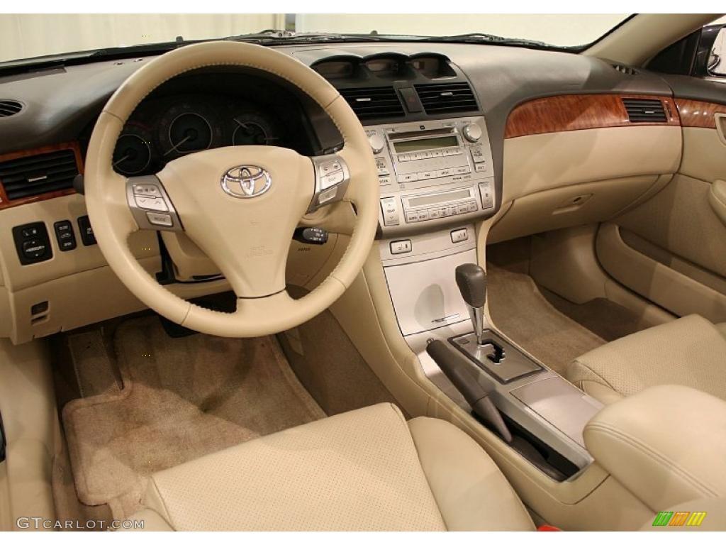 Ivory Interior 2008 Toyota Solara Sle V6 Convertible Photo 41132563
