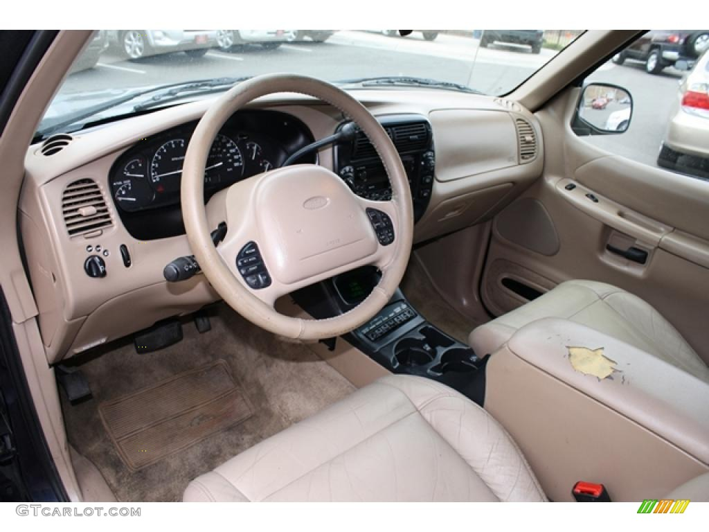 Medium prairie tan interior 2000 ford explorer eddie bauer 4x4 photo 41193894 2000 ford explorer interior parts