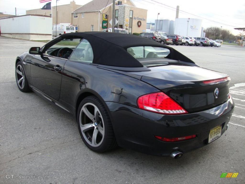 jet black 2008 bmw 6 series 650i convertible exterior photo 41195342. Black Bedroom Furniture Sets. Home Design Ideas