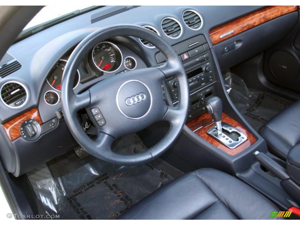 Ebony interior 2005 audi a4 3 0 quattro cabriolet photo 41198270