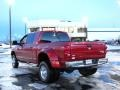 2008 Inferno Red Crystal Pearl Dodge Ram 3500 Laramie Mega Cab 4x4 Dually  photo #3