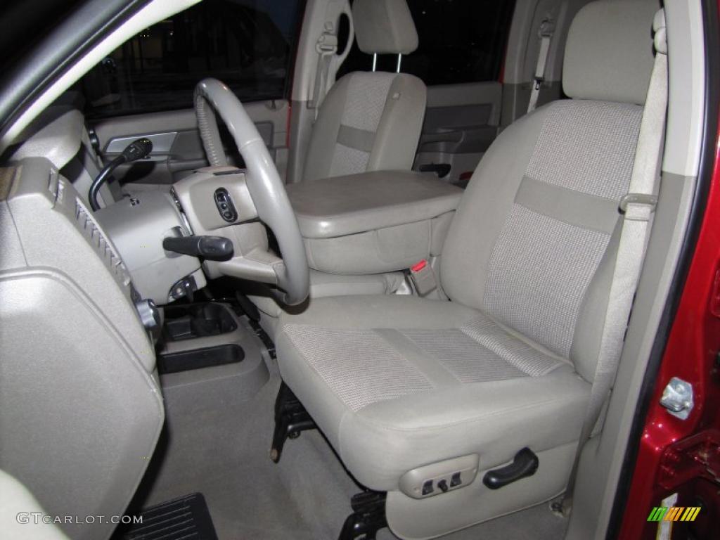 Khaki Interior 2008 Dodge Ram 3500 Laramie Mega Cab 4x4 Dually Photo #41219795