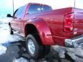 2008 Inferno Red Crystal Pearl Dodge Ram 3500 Laramie Mega Cab 4x4 Dually  photo #11