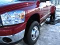 2008 Inferno Red Crystal Pearl Dodge Ram 3500 Laramie Mega Cab 4x4 Dually  photo #13