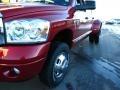 2007 Inferno Red Crystal Pearl Dodge Ram 3500 Laramie Mega Cab 4x4 Dually  photo #15