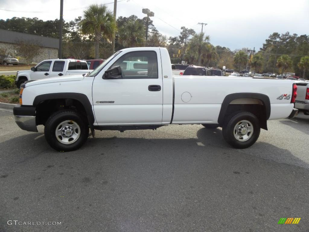 summit white 2004 chevrolet silverado 2500hd regular cab 4x4 exterior photo 41223157. Black Bedroom Furniture Sets. Home Design Ideas