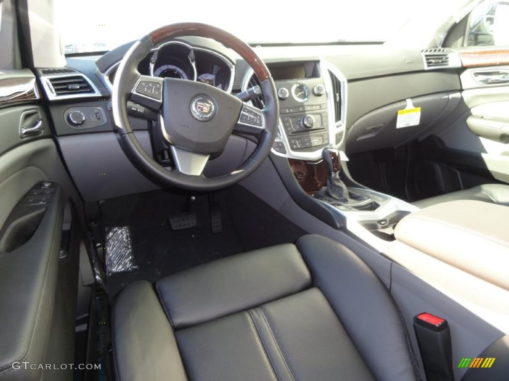 Ebony Titanium Interior 2011 Cadillac Srx 4 V6 Awd Photo 41230795