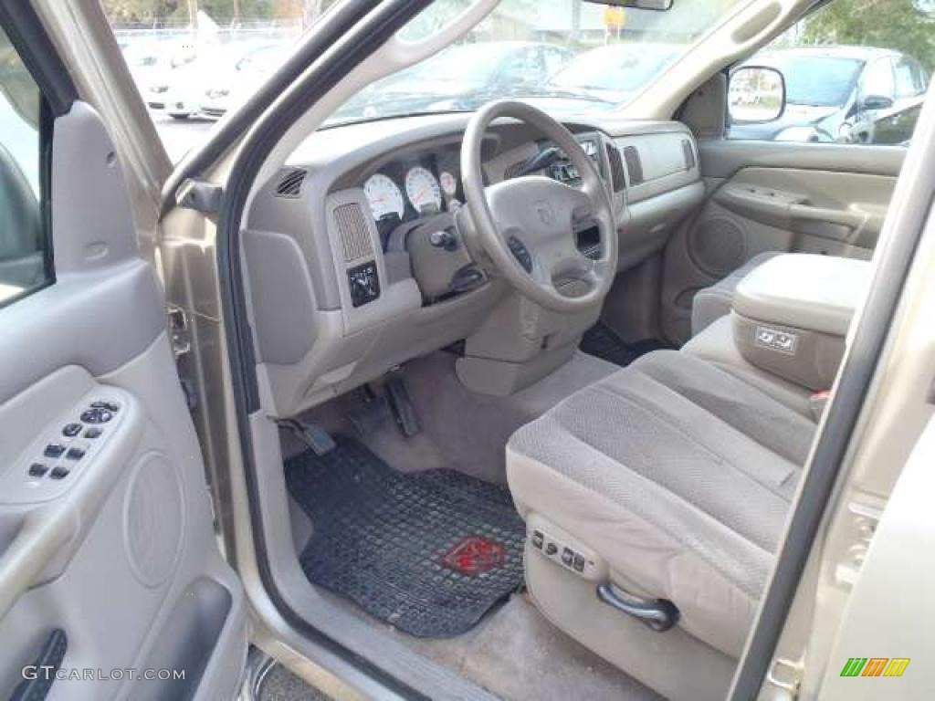 taupe interior 2003 dodge ram 1500 st quad cab photo 41240528. Black Bedroom Furniture Sets. Home Design Ideas