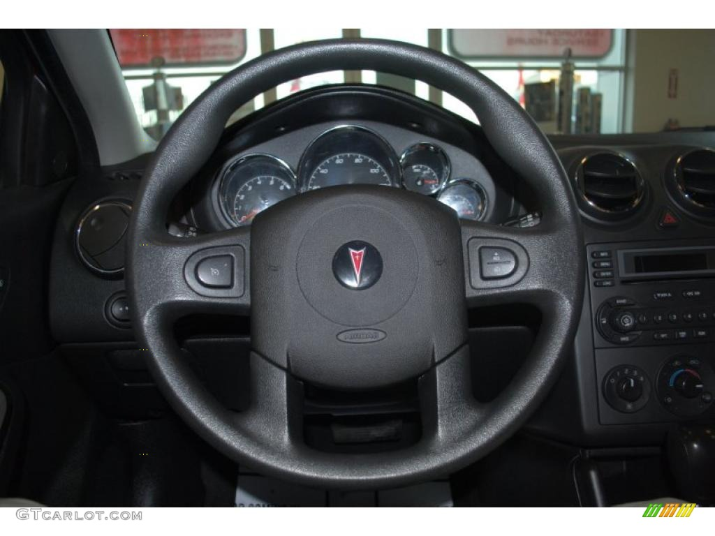 2005 Pontiac G6 Sedan Ebony Steering Wheel Photo 41242528