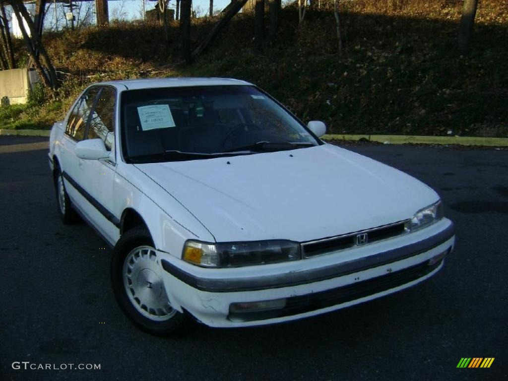 Honda 91 honda accord lx : Frost White 1991 Honda Accord LX Sedan Exterior Photo #41247817 ...