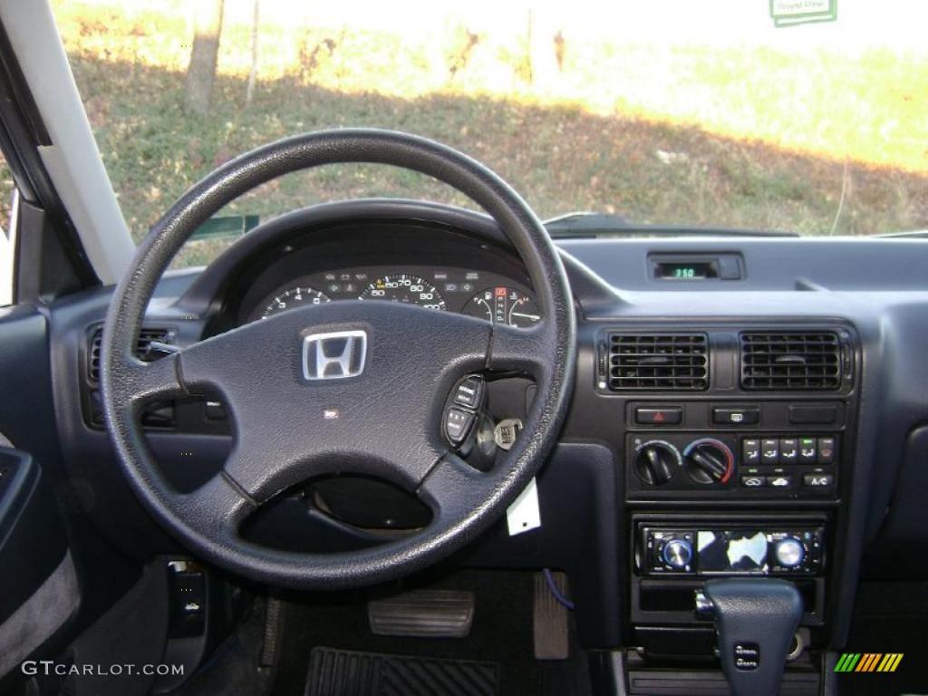 1991 Honda Accord LX Sedan Gray Dashboard Photo #41247897