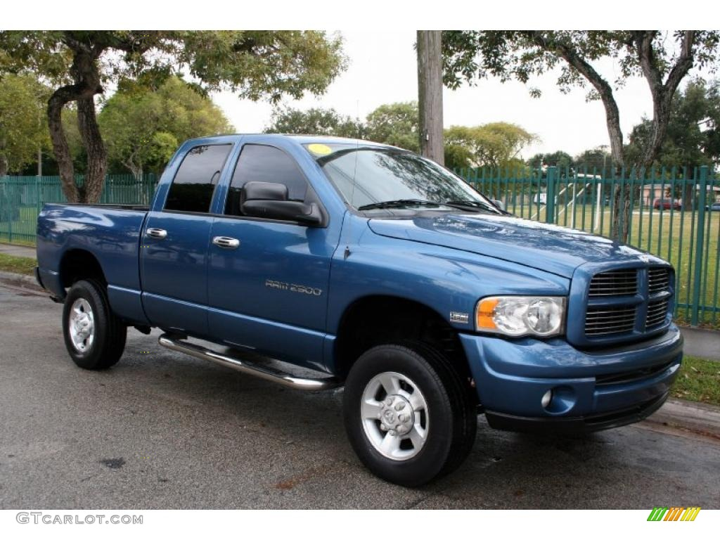 Atlantic blue pearl 2003 dodge ram 2500 slt quad cab 4x4 exterior photo 41262617 gtcarlot com