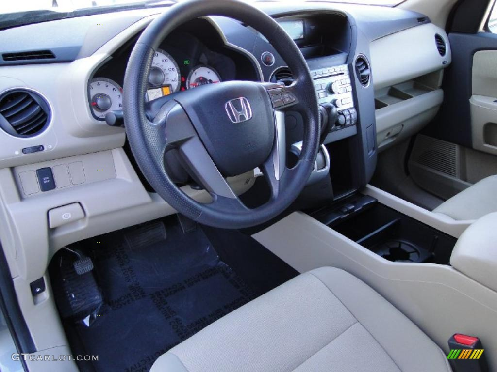 Gray Interior 2009 Honda Pilot Lx Photo 41267753
