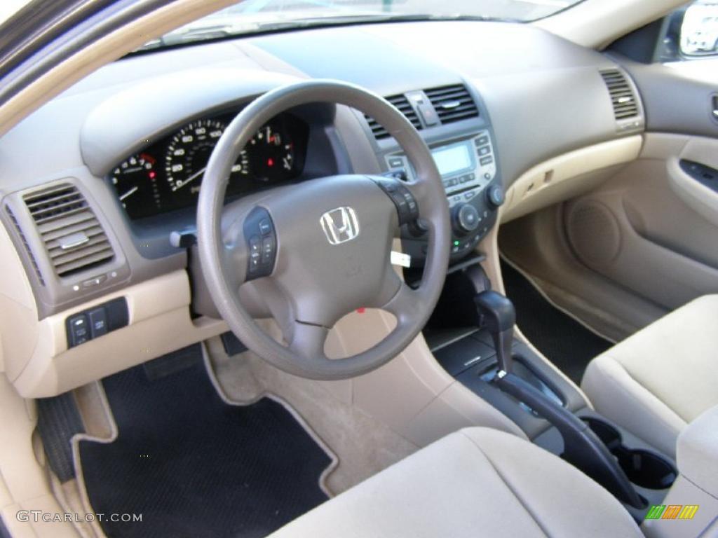 Ivory Interior 2007 Honda Accord Lx V6 Sedan Photo