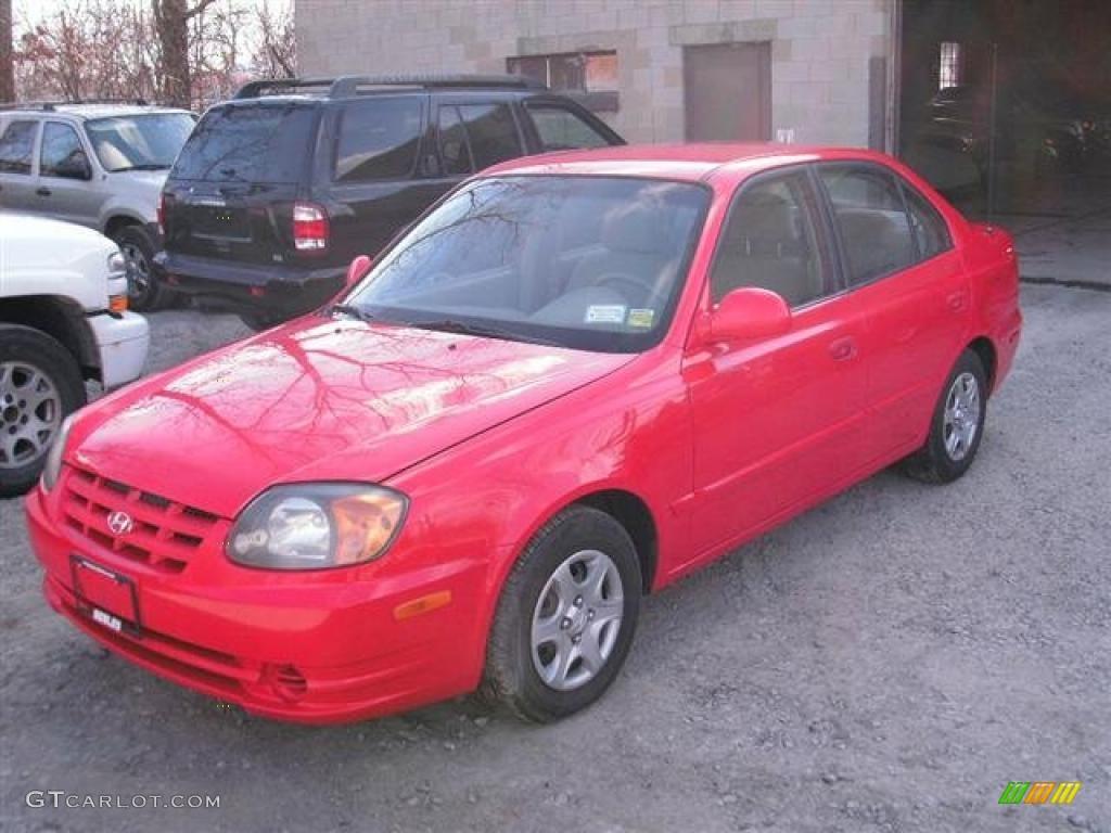 retro red 2004 hyundai accent gl sedan exterior photo. Black Bedroom Furniture Sets. Home Design Ideas