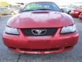 2001 Laser Red Metallic Ford Mustang V6 Convertible  photo #2