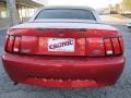 2001 Laser Red Metallic Ford Mustang V6 Convertible  photo #6
