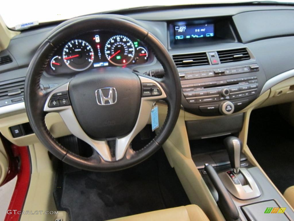 2009 Honda Accord Ex L V6 Coupe Ivory Dashboard Photo