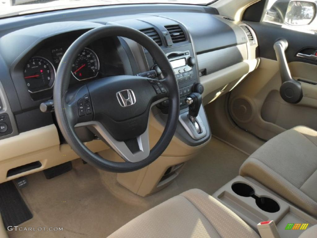 Ivory Interior 2008 Honda Cr V Ex Photo 41307471