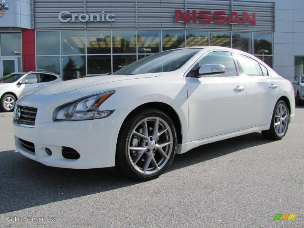 winter frost white 2011 nissan maxima 3 5 sv sport exterior photo 41309171. Black Bedroom Furniture Sets. Home Design Ideas