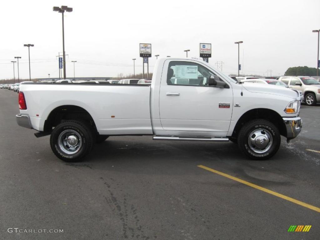 bright white 2011 dodge ram 3500 hd slt regular cab 4x4 dually exterior photo 41325774 - Dodge Ram 3500 Dually Single Cab