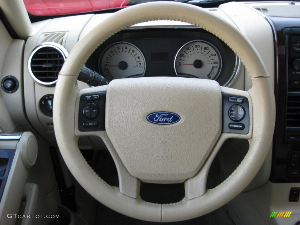 2006 Ford Explorer Limited 4x4 Camel Steering Wheel Photo