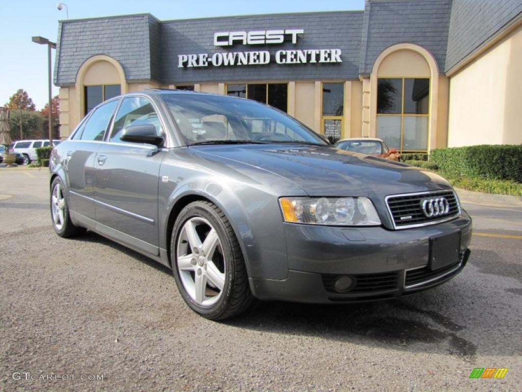 2002 dolphin grey pearl effect audi a4 3 0 quattro sedan. Black Bedroom Furniture Sets. Home Design Ideas