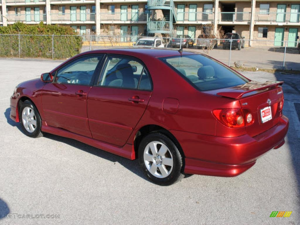 Impulse Red Pearl 2007 Toyota Corolla S Exterior Photo 41359171