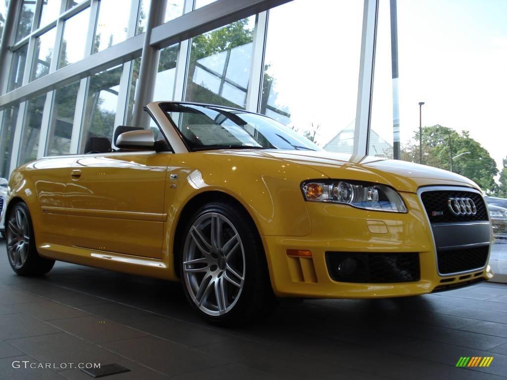 2008 Imola Yellow Audi Rs4 4 2 Quattro Convertible
