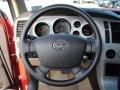 2009 Toyota Tundra Sand Interior Steering Wheel Photo