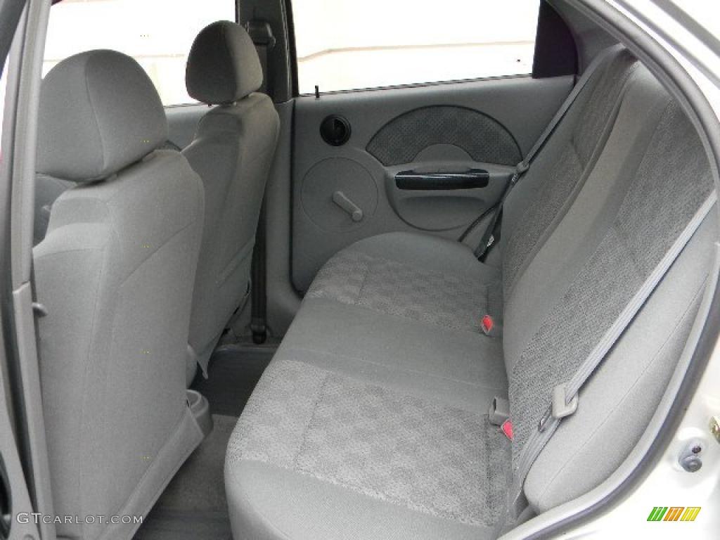 Gray Interior 2005 Chevrolet Aveo LS Sedan Photo 41371912
