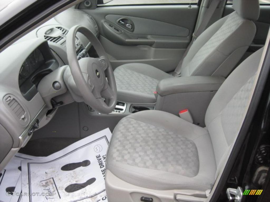 Gray Interior 2004 Chevrolet Malibu Ls V6 Sedan Photo