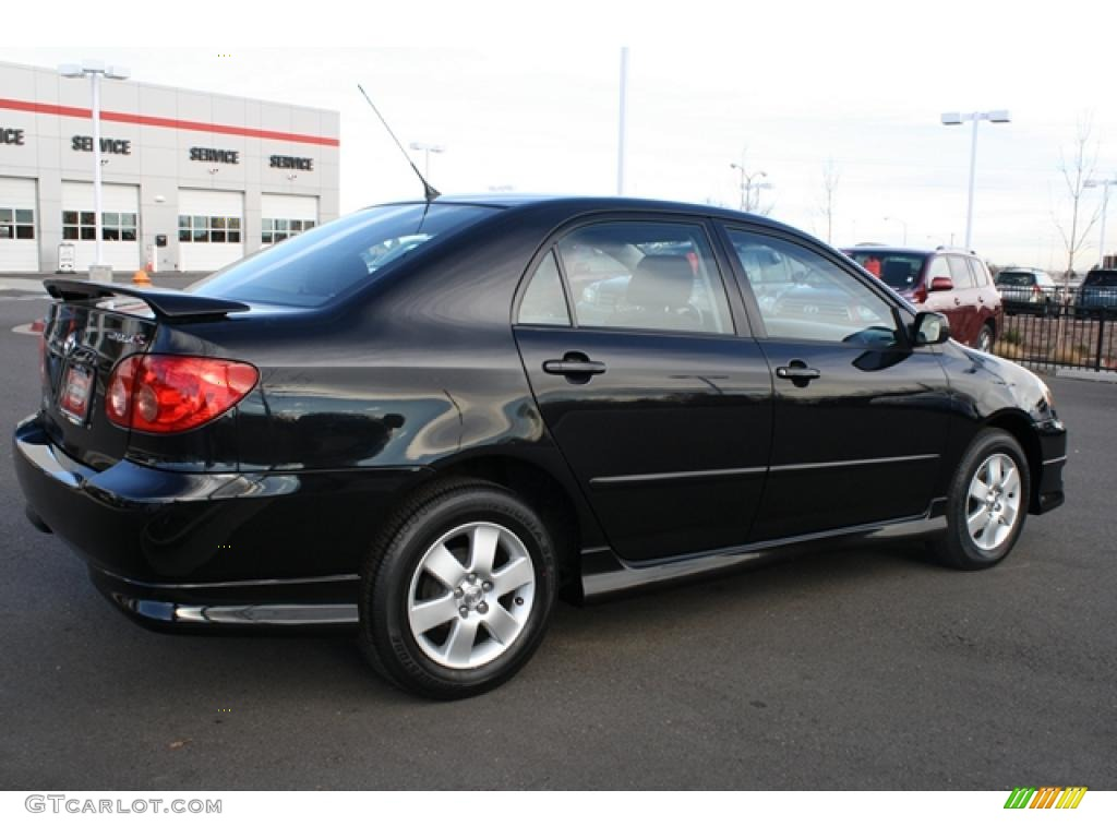 Black Sand Pearl 2007 Toyota Corolla S Exterior Photo