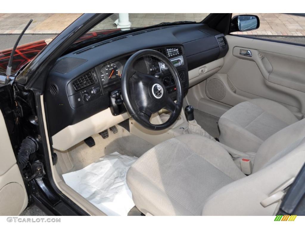Beige interior 2000 volkswagen cabrio gl photo 41392252