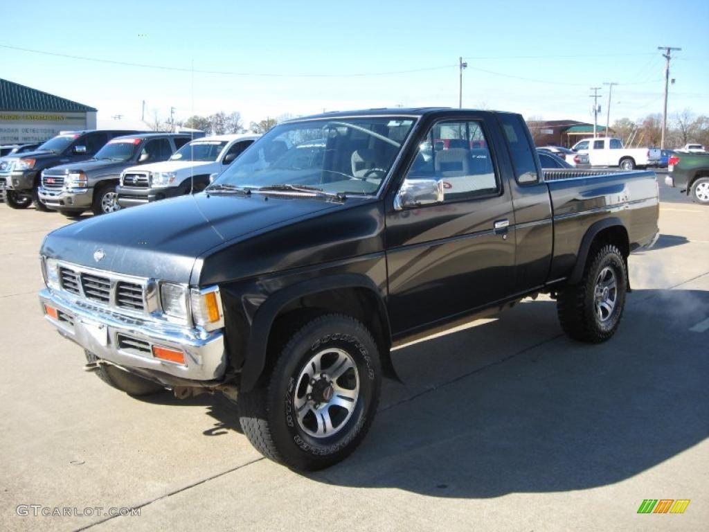 1997 hardbody truck se extended cab 4x4 super black dark gray photo 3