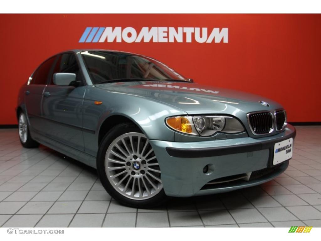 2002 3 Series 330i Sedan - Grey Green Metallic / Grey photo #1