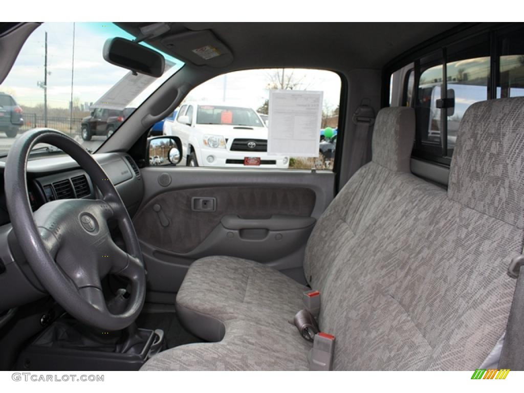 Charcoal Interior 2004 Toyota Tacoma Regular Cab 4x4 Photo